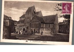 Cpa 14 Villerville L'Eglise Animation Devant Commerce Agence G.Dumy Déstockage à Saisir - Villerville