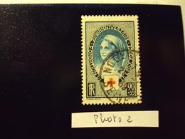 """1939     -timbre Oblitéré N°  422   """" 75 Ans Croix Rouge     """"       Cote  8.5     Net 2.8       (photo2) - Oblitérés"""
