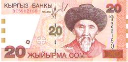 Kyrgyzstan - Pick 19 - 20 Som 2002 - Unc - Kirghizistan