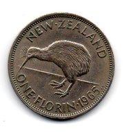 NOUVELLE ZELANDE - NEW ZEALAND - Pièce One Florin 1965 - Nouvelle-Zélande