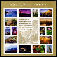 USA, 2016 Scott #5080, National Parks,  Minisheet Of 16,  MNH, VF - Ongebruikt