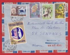 Lettre Du VIET-NAM (KONTUM) à FRANCE (SENONES)  Année 1972 - Viêt-Nam
