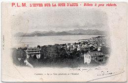 P.L.M. L' Hiver Sur La Cote D' Azur - Cannes  (111591) - Pubblicitari