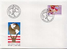 Switzerland Stamp On FDC - World Cup