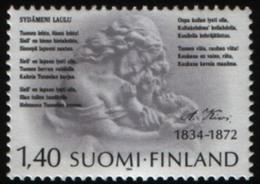 Timbre(s) Neuf(s) De Finlande, 1984, N°915, Poète Aleksis Kevi, Sculpture De Aaltonen - Finlandia