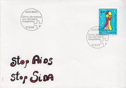 Switzerland Stamp On FDC - Disease