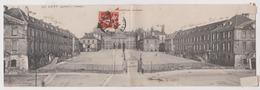 LUNEVILLE - Carte Double Panoramique - Le Chateau - Luneville