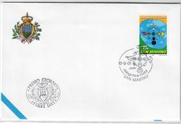 SAN MARINO 2001 - ANNO INTERNAZIONALE DIALOGO TRA CIVILTA'   - FDC - FDC