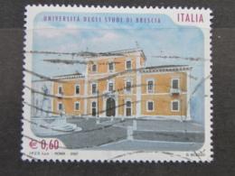 *ITALIA* USATI 2007 - UNIVERSITA' STUDI BRESCIA - SASSONE 2949 - LUSSO/FIOR DI STAMPA - 6. 1946-.. Repubblica