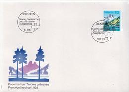 Switzerland Stamp On FDC - Holidays & Tourism