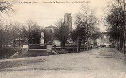 LECTOURE 32, Promenade Du Bastion ET STATUE DU MARECHAL LANNES - Lectoure
