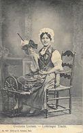 Jeune Femme En Costume Lorrain (Lothringer Tracht) Rouet - Edition G. Forissier, Carte N° 424 - Costumes