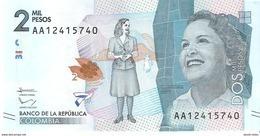 Colombia - Pick 458 - 2000 Pesos 2015 - 2016 - Unc - Colombie