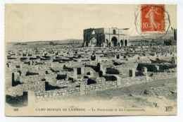 Convoyeur Ligne  CONSTANTINE A BISKRA  ( Algérie)  Sur Semeuse 10c Rouge / CPA Du Camp Romain à Lambese / 1921 - Marcophilie (Lettres)