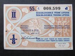 LOS Lotterie Lotterielos 1947 Czechoslovakia ///  D*36471 - Lotterielose