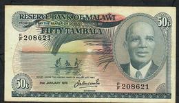 MALAWI P13a 50 TAMBALA 1976  VF  NO P.h. ! - Malawi