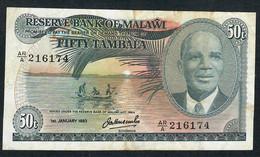 MALAWI P13e 50 TAMBALA 1983  VF  NO P.h. ! - Malawi