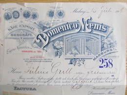 RECHNUNG Faktur Slovenia Marburg Maribor Domenico Menis Litho Käse Chees 1902 Friedberg //  D*36474 - Other