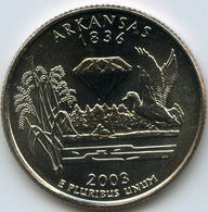 Etats-Unis USA 25 Cents Quarter 2003 P Arkansas KM 347 - Federal Issues