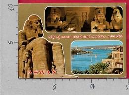 CARTOLINA VG EGITTO - ASWAN - City Of Monuments - Vedutine Multivue - 10 X 15 - ANN. 1997 - Aswan