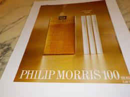 ANCIENNE PUBLICITE CIGARETTE PHILIP MORRIS LONGUE DUREE 1968 - Tabac (objets Liés)