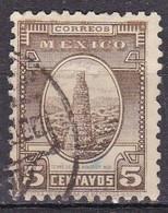 Messico, 1934/40 - 5c Tower Of Los Remedios - Nr.710 Usato° - Messico