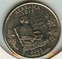 Etats-Unis USA 25 Cents Quarter 2003 P Alabama KM 344 - Federal Issues