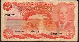 MALAWI P15e 5 KWACHA  1983    FINE Only 1 P.h. ! - Malawi