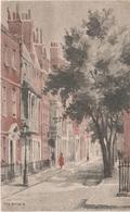 Künstlerkarte AK London Chelsea Cheyne Row Embankment A Albert Bridge Park Ellis Silas Art United Kingdom England UK - London Suburbs