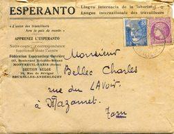 Esperanto - Cours Par Correspondance Entre Mr Belloc Mazamet Et Son Professur Robert Le Raincy - Manuscrits