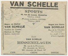 Postal Cheque Cover Belgium 1932 Sportswear - Non Classificati