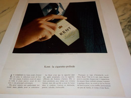 ANCIENNE PUBLICITE CIGARETTE PRELUDE KENT 1968 - Tabac (objets Liés)