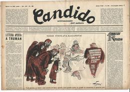 °°° Candido Nr.28 15 Luglio 1951°°° - Books, Magazines, Comics