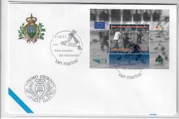 SAN MARINO 2011- ANNO INTERNAZIONALE DEL VOLONTARIATO- FDC - FDC