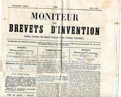 Journal - Le Moniteur Des Brevets D'invention 1864 - Vieux Papiers