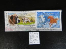 "2015  "" Hund + Katz "" Auf Ausschnitt,  Vollstempel   LOT 296 - 1992-.... Föderation"