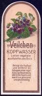 PRINT From J. STERN BERLIN - VEILCHEN  KOPFWASSER  LOTION-  Cc 1910/5 - Perfumed Bears