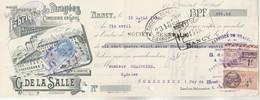 Lettre Change Illustrée 15/4/1926 G DE LA SALLE Confiserie Dragées NANCY - Chartoire Combronde Puy De Dôme - Lettres De Change