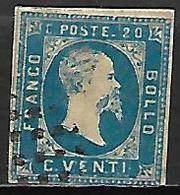 SARDAIGNE    -   1851.   Y&T N° 2 Oblitéré. - Sardaigne