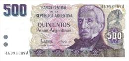 Argentina - Pick 316 - 500 Pesos Argentinos 1983-1985 - Unc - Argentina