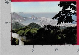 CARTOLINA VG BRASILE - RIO DE JANEIRO - Vista Chineza C/a Lagoa - 10 X 15 - ANN. 1963 MECCANICA ROSSA - Rio De Janeiro