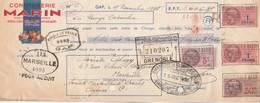 Lettre Change Illustrée 15/11/1938 MARIN Confiturerie GAP Hautes Alpes - Abegy Marseille - Lettres De Change