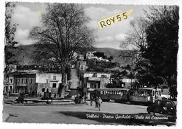 Lazio-velletri Piazza Garibaldi Veduta Animata Vecchio Tram Castelli Romani Al Capolinea Linea Non Piu' Esistente - Velletri