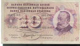 Billet 10 Francs Suisse 15 Janvier 1969 - Switzerland