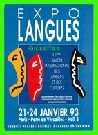 ADVERTISING - PUBLICITÉ DE LIVRES - 11e SALON INTERNATIONAL DES LANGUES & DES CULTURES 1993 - EXPOLANGUES - - Publicité