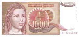 Yugoslavia - Pick 116 - 10.000 Dinara 1992 - Unc - Jugoslavia