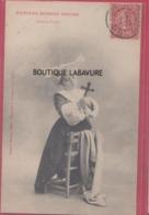 ILLUSTRATEUR--BERGERET----Petite Bonne Soeur -Fervente Priere--precurseur - Bergeret