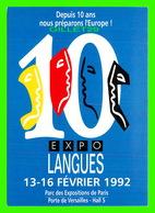 ADVERTISING - PUBLICITÉ DE LIVRES - 10e SALON INTERNATIONAL DES LANGUES & DES CULTURES 1992 - EXPOLANGUES - - Publicité
