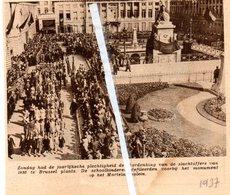 BRUSSEL..1937.. HERDENKING SLACHTOFFERS VAN 1830 OP HET MARTELARENPLEIN - Old Paper