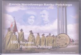 SCOUTS -  POLAND - SPECIAL FOLDER WITH 2 ZLOTY COIN - Portugal